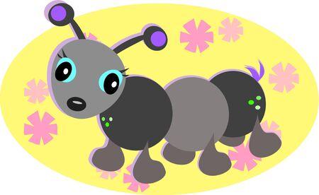 Cute Ant Retro Style