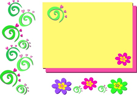 mixture: Mix of Spirals and Flowers Illustration