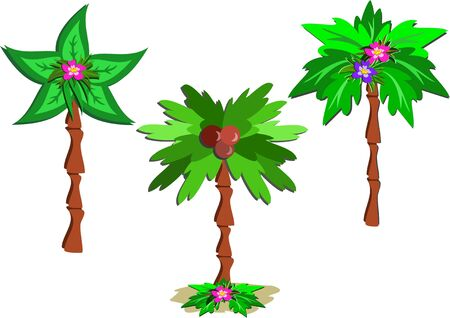 Drie Palms Stock Illustratie
