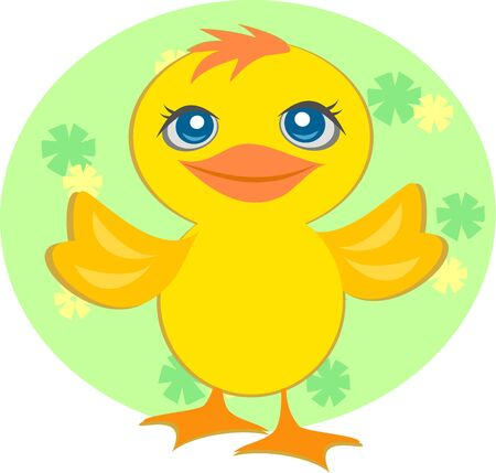 Sweet Baby Duck 矢量图像