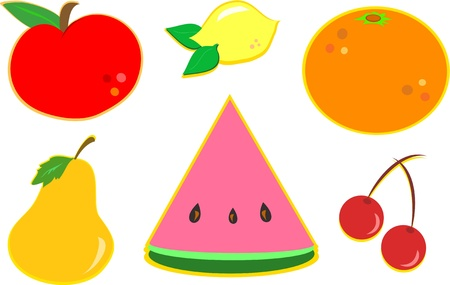Mix of Different Fruits Иллюстрация