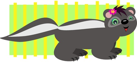 skunk: Skunk Stripes Illustration