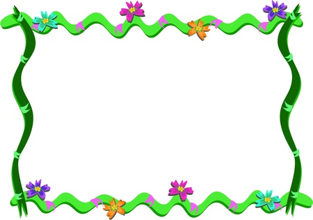 Frame of Ribbons, Flowers, and Rings