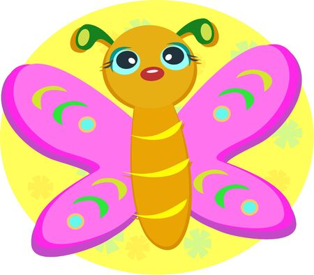 Pink Butterfly Vector