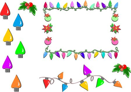 Mix of Christmas Lights Stock Illustratie