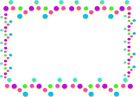 Frame of Colorful Bubbles