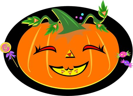 Happy Pumpkin with Candy