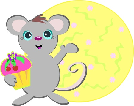Mouse with Cupcake
