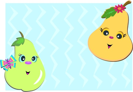 Frame of Pears  Vector