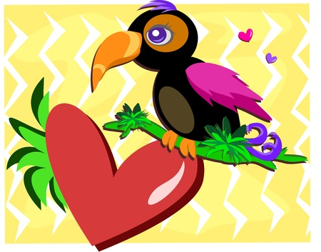 Toucan with a Big Heart