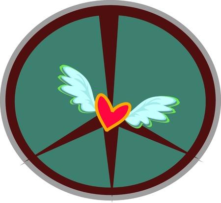 corazon con alas: Signo de paz alas de coraz�n