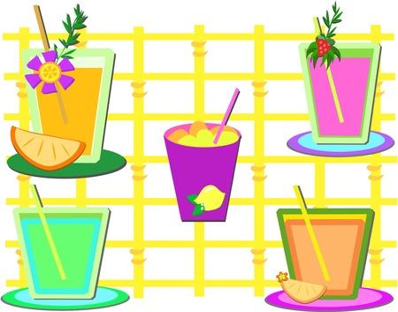 slush: Mix of Sweet Drinks Illustration