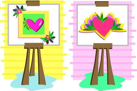 plant stand: Two Art Easels