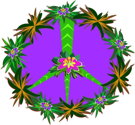 symbol: Peace Sign of the Tropics Illustration