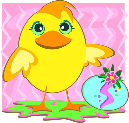 Easter Duck and Egg