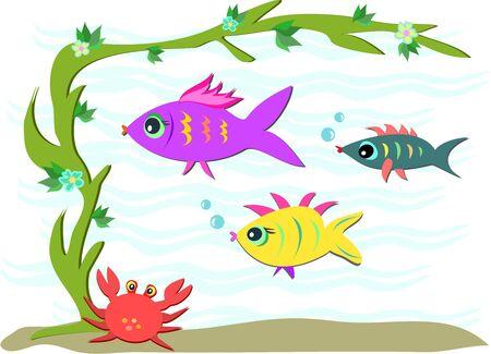 crab legs: Three Fish and a Crab