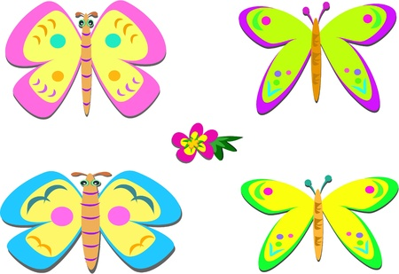 Mix of Whimsical Butterflies