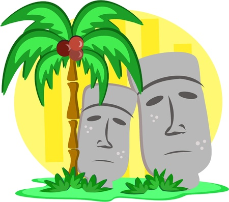 tiki head: Giant Tiki Head Statues