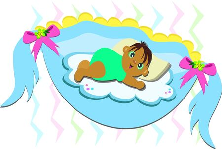 infant: Baby in a Hammock Illustration