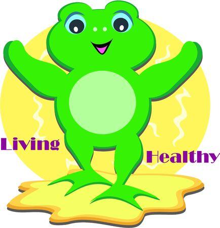 living: Living Healthy Frog