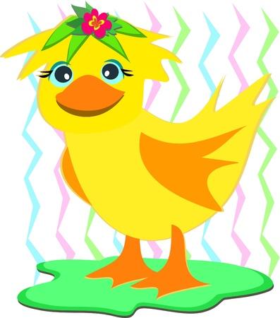 peluca: Pato con una peluca