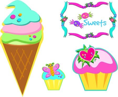 Yummy Sweets Vector