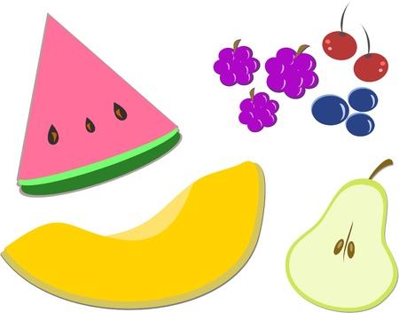 Mix van fruit van verschillende vormen