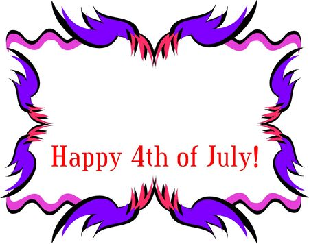 Frame for a Happy Fourth of July Stock Vector - 11222314
