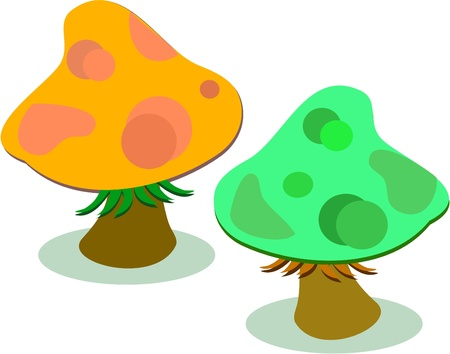 spotted: Two Spotted Mushrooms