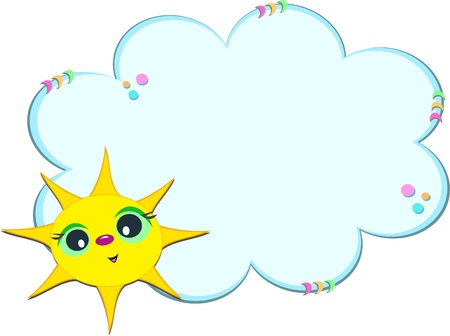 cloud: Sunny Cloud Frame Illustration