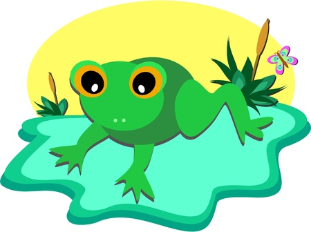 Tiny Frog Pond Vector