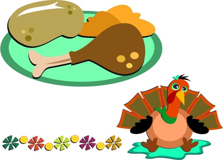 Mix of Thanksgiving Images Stock Vector - 11377381