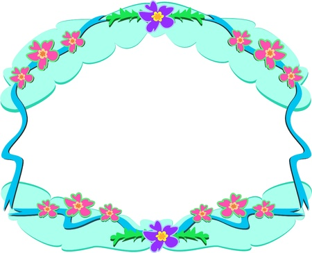 Frame of Flower Clouds
