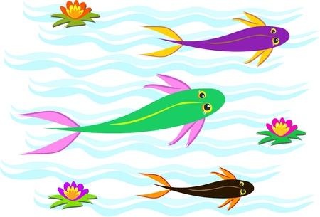 trio: Trio of Koi Fish