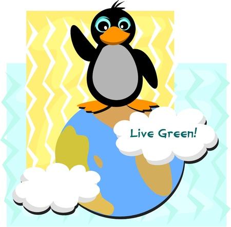 Live Green Penguin