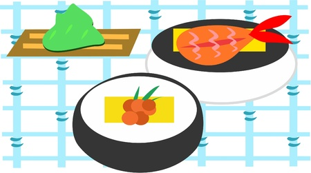 grid: Sushi Grid Illustration