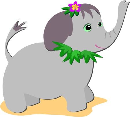 Tropical Elephant Baby