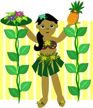 パイナップルと花のブドウ フラガール