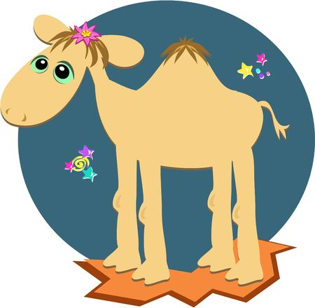 Camel in the Night Vector