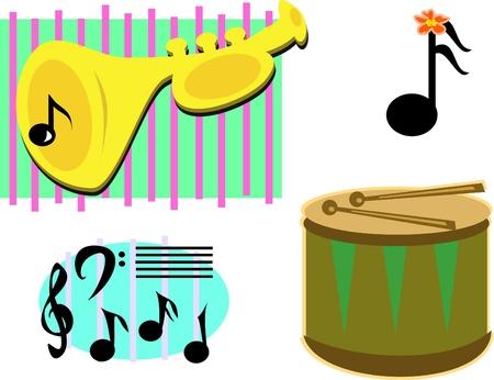 音楽的イメージのミックス  イラスト・ベクター素材