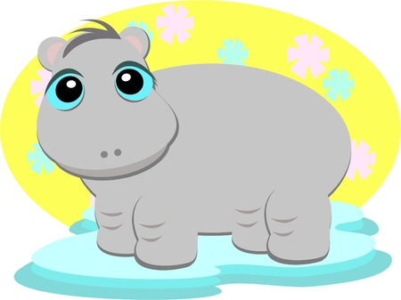 Hippo Baby Vector
