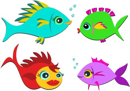 fish: Mix of Colorful Sweet Fish Illustration