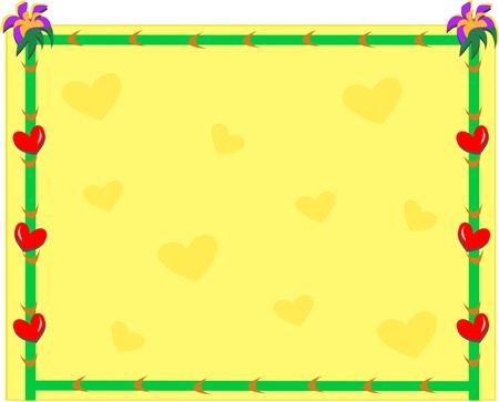 Frame with Hearts Background Иллюстрация