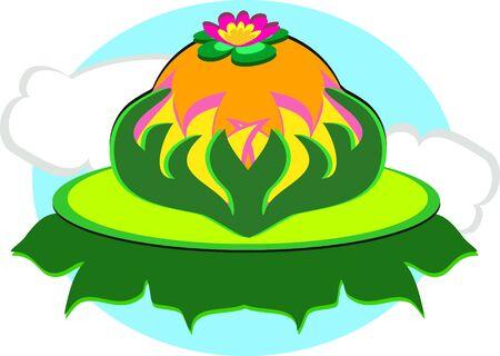 Rustig Lotus Stock Illustratie