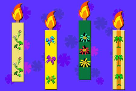 Mix of Decorative Candles Banco de Imagens - 11671505