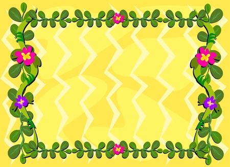 Frame of Vines and Flowers Иллюстрация