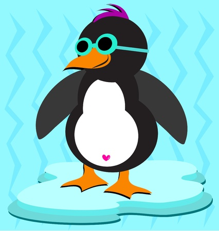Cool Penguin on Ice Stock Vector - 11869196
