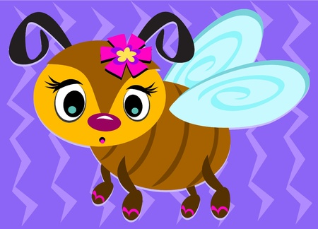 Cute Bee with Sandals Vector