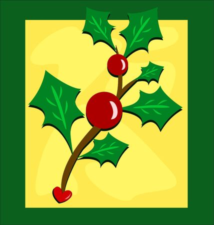 Framed Holly and Berry Plant