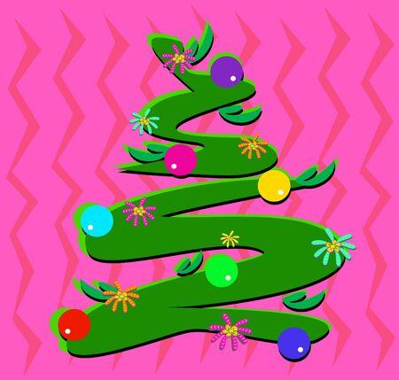 Arbre de Noël stylisé Banque d'images - 12369286